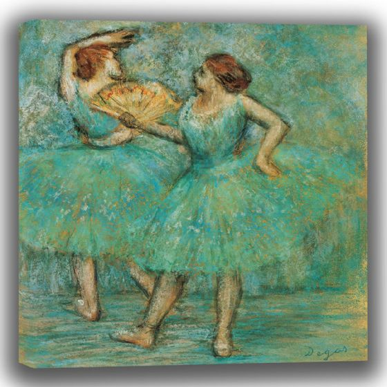 Degas, Edgar: Two Dancers. Fine Art Canvas (003775)